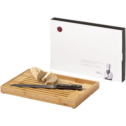 Bistro skärbräda med brödkniv