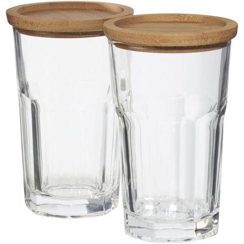Linden 2-delars glasset med underlägg