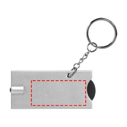 Allegro nyckelring med mynthållare och lampa