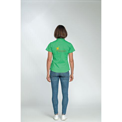 L&S Poplin Shortsleeve Shirt dam skjorta