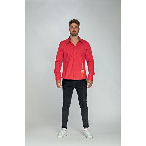 L&S Poplin Longsleeve Shirt herr skjorta