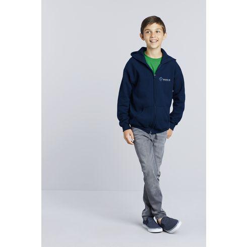 Gildan Heavyblend Hooded Full-Zip Sweater barn hoodie