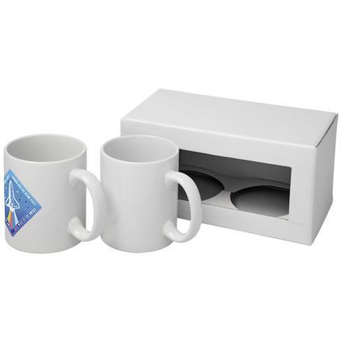 Ceramic Sublimationsmugg med två delar i presentförpackning
