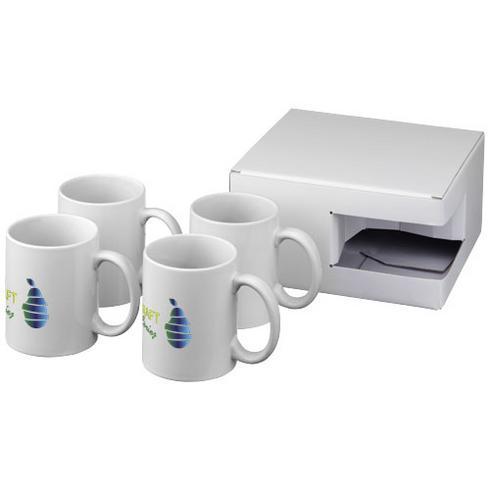 Ceramic Sublimationsmugg med fyra delar i presentförpackning