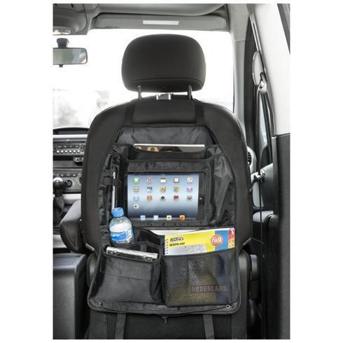 Back seat prylhållare med fack för surfplatta