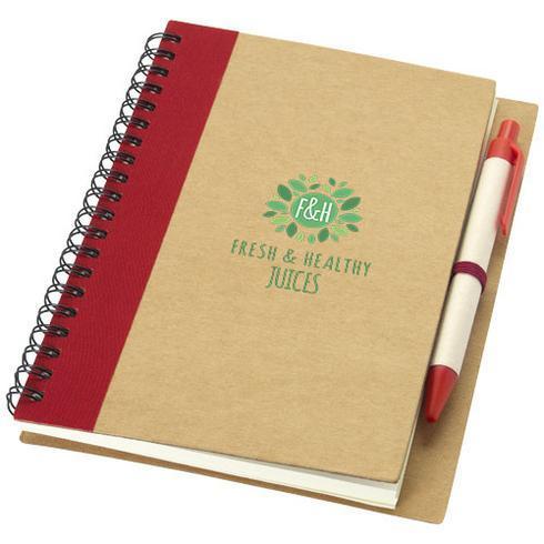 Priestly anteckningsbok av återvunna material med penna