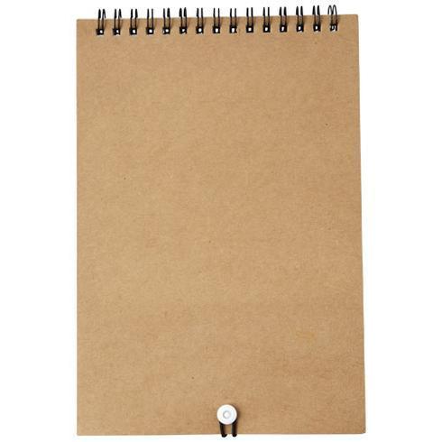 Claude målarset med anteckningsbok