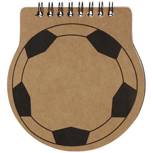 Score fotbollsformad anteckningsbok