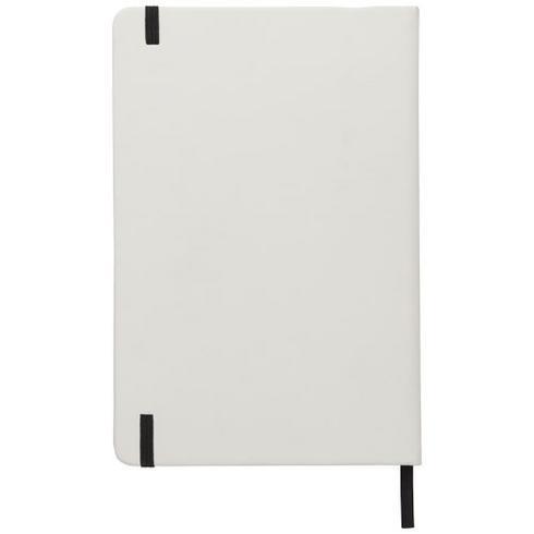 Spectrum vit anteckningsbok A5 med färgad kontrast