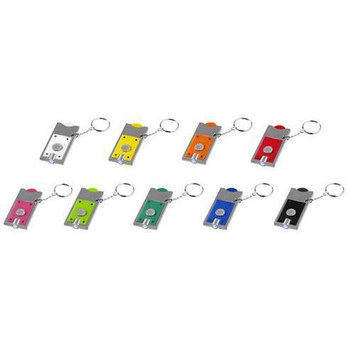 Allegro nyckelring med mynthållare och LED-lampa