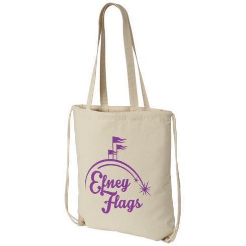 Eliza ryggsäck med dragsko i bomull, 240 g/m²