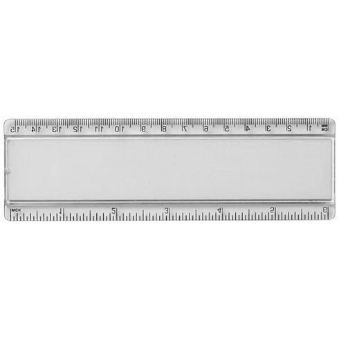 Ellison 15 cm plastlinjal med pappersinlägg
